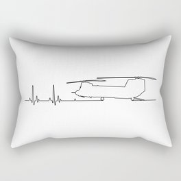 CH-47 Helicopter Heartbeat Pulse Rectangular Pillow