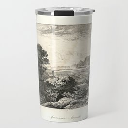 Landscapes of Ludwig Richter (1875) - View of the Apennines Travel Mug