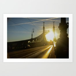 Liberty Bridge Sunset Art Print