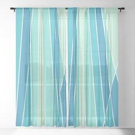 Retro Lines Sheer Curtain