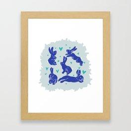 Bunny love - Blueberry edition Framed Art Print