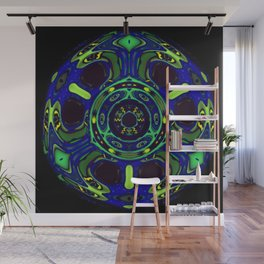 Blacklight Eyes Abstract Wall Mural