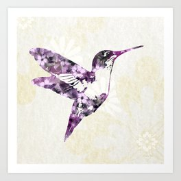 Purple Hummingbird Art Art Print