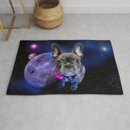 Dog French Bulldog and Galaxy Rug