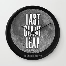 Last Giant Leap Wall Clock
