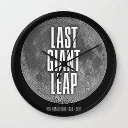 Last Giant Leap Wall Clock