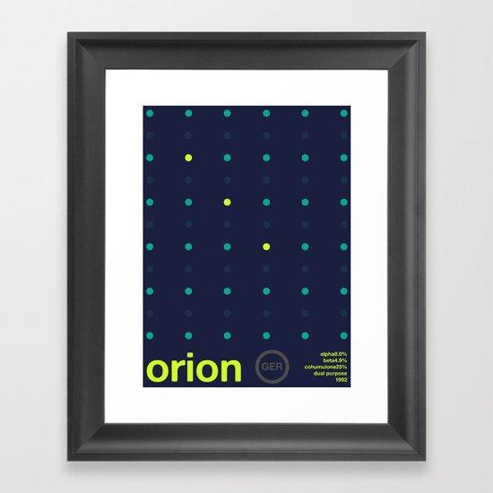 orion single hop Framed Art Print