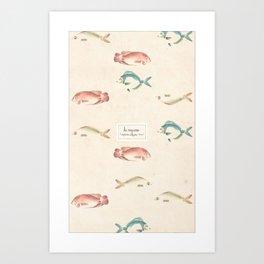 las mojarras  Art Print