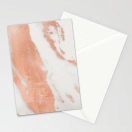 Marble Rose Gold Shimmer Light Stationery Cards