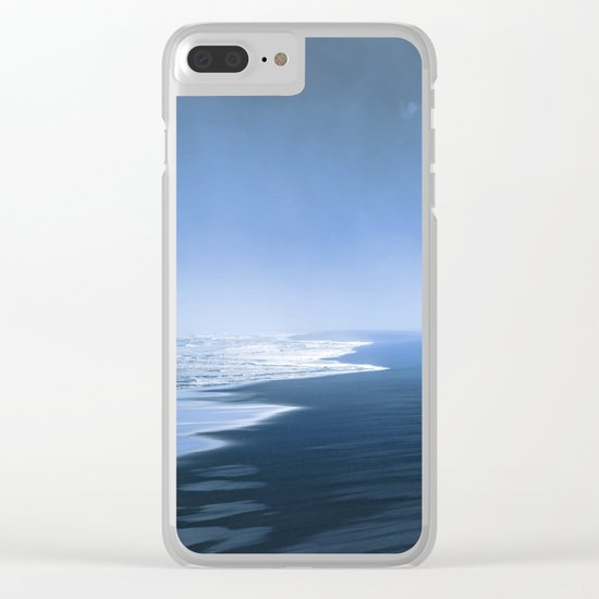 Blue ocean mood Clear iPhone Case