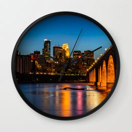 Stone Arch Bridge Illuminated Wall Clock