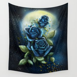 Night Roses Wall Tapestry