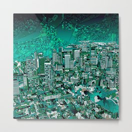 boston city skyline Metal Print