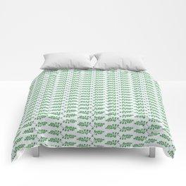 Repeating Leaves Comforters