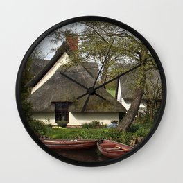 Constable Thatched Bridge Cottage, Flatford Wall Clock