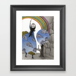 Rainbow Mine Framed Art Print