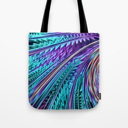 Jewel Rainbow Fractal Art Tote Bag