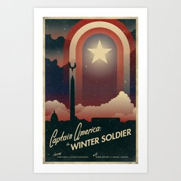 Captain and Soldier Art Print