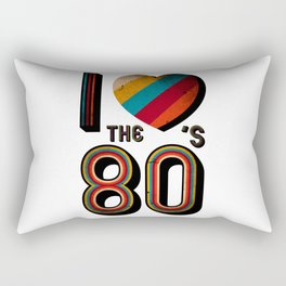 VINTAGE I LOVE THE 80'S RETRO Rectangular Pillow