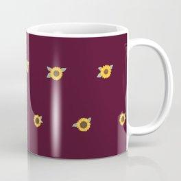 Warm Summer Nights Sunflower Pattern Coffee Mug