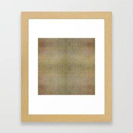 Gold and Silver Leaf Bridget Riley Inspired Pattern Framed Art Print