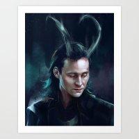 loki Art Prints featuring Loki by feredir