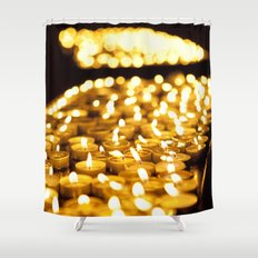Prayer Candles in Church, Israel  Shower Curtain