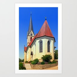 The village church of Allhaming II | architectural photography Art Print