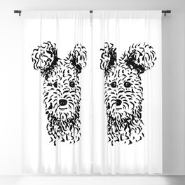 Pumi (Black and White) Blackout Curtain