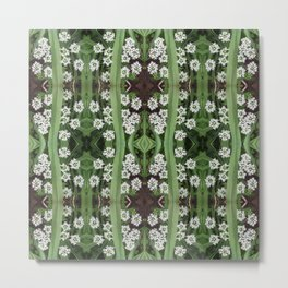 206 - Queen Anne's Lace abstract pattern Metal Print
