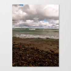Stony Beach in Rogers City, MI Canvas Print