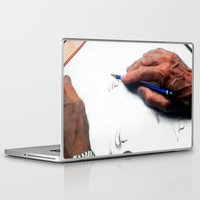 clint eastwood Laptop & iPad Skins featuring Clint Eastwood Drawing by Gabriel T Toro