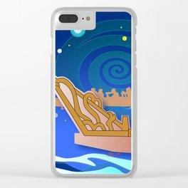 Maori Canoes : Waka Clear iPhone Case