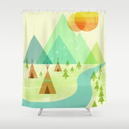 Native Lands Shower Curtain