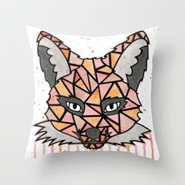 Watercolor Fox Throw Pillow