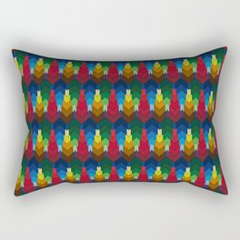 Trees in the style of bargello needle point Rectangular Pillow