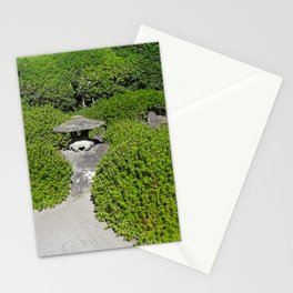 mini pagoda in a bonzai garden Stationery Cards