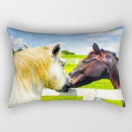 Barn Yard Kisses Rectangular Pillow