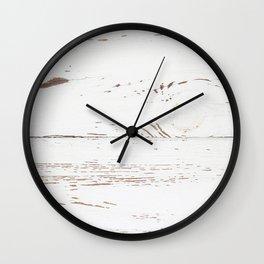Vintage White Wood Wall Clock