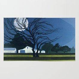 The Farm By Moonlight Rug