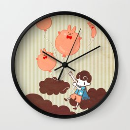 Let's fly away! Wall Clock