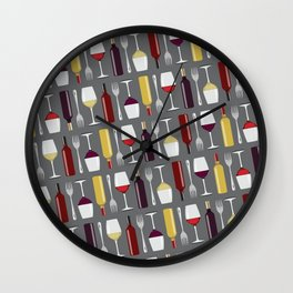 Food & Wine Wall Clock