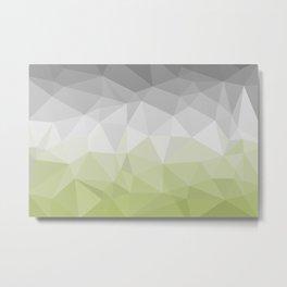 light green and grey polygon Metal Print