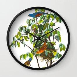 Blue Grosbeak Bird Wall Clock