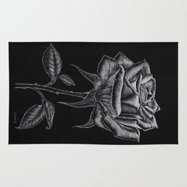 Silver Rose Rug