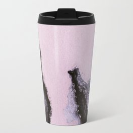 Pink and black marbling paper Travel Mug