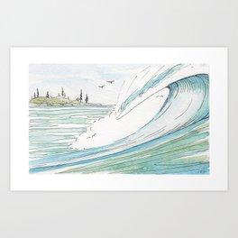 West Coast Wave Art Print