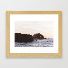 Sutro Baths at sunset Framed Art Print