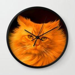 Red cat Wall Clock