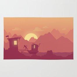 Fisherman's hut Rug